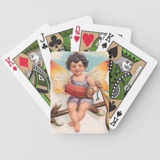 Clapsaddle: Music Making Easter Fairy Bicycle Playing Cards