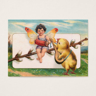 Clapsaddle: Music Making Easter Fairy Business Card