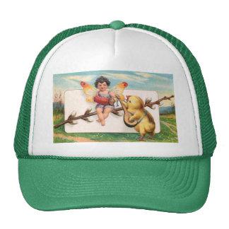 Clapsaddle: Music Making Easter Fairy Trucker Hat