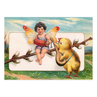 Clapsaddle: Music Making Easter Fairy Large Business Card