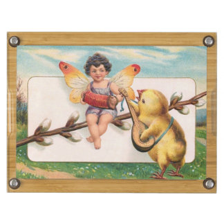 Clapsaddle: Music Making Easter Fairy Rectangular Cheese Board