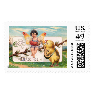 Clapsaddle: Music Making Easter Fairy Postage