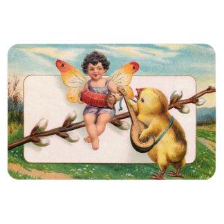 Clapsaddle: Music Making Easter Fairy Rectangular Photo Magnet