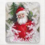 Clapsaddle: Papá Noel con las ramitas del abeto Alfombrilla De Ratón
