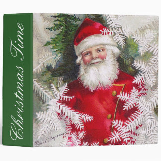 Clapsaddle: Santa Claus with Fir Twigs 3 Ring Binder