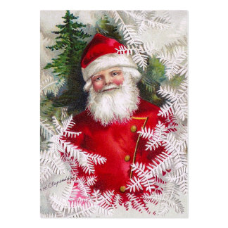 Clapsaddle: Santa Claus with Fir Twigs Large Business Card