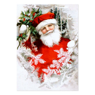 Clapsaddle: Santa Claus with Holly Large Business Card