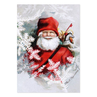 Clapsaddle: Santa Claus with Toys and Fir Twigs Large Business Card