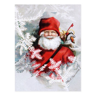 Clapsaddle: Santa Claus with Toys and Fir Twigs Postcard