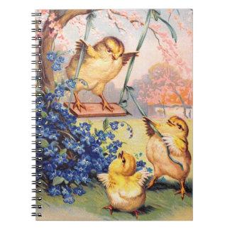 Clapsaddle: Swinging Biddy Spiral Notebook