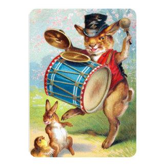 """Clapsaddle: Teclear el conejo Invitación 4.5"""" X 6.25"""""""