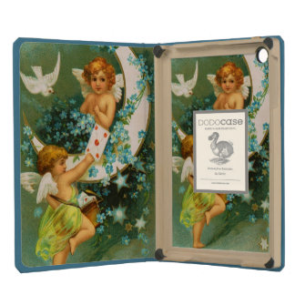 Clapsaddle: Two Cherubs on a Sickle Moon iPad Mini Cover