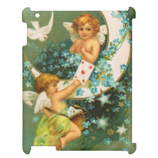 Clapsaddle: Two Cherubs on a Sickle Moon Cover For The iPad 2 3 4
