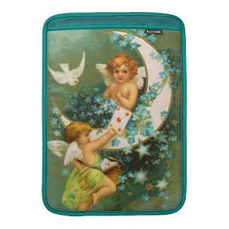 Clapsaddle: Two Cherubs on a Sickle Moon MacBook Sleeve