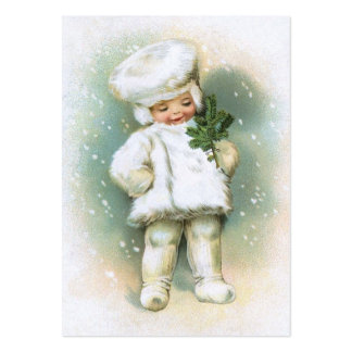 Clapsaddle: Winter Boy with Fir Twig Large Business Card