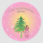Clara and her nutcracker ballet small sticker