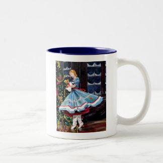 Clara and Her Nutcracker Two-Tone Coffee Mug