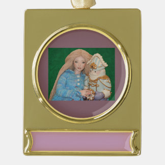 Clara and the Nutcracker Gold Plated Banner Ornament