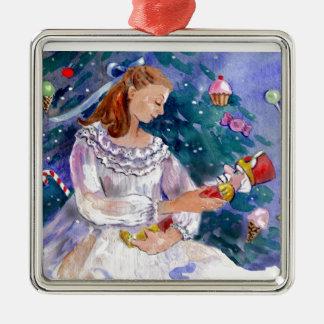 Clara and the Nutcracker Metal Ornament