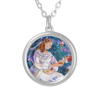 Clara and the Nutcracker Round Pendant Necklace