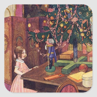 Clara and the Nutcracker Square Sticker