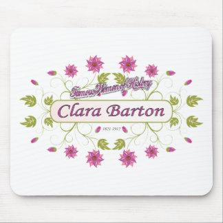 Clara Barton mujeres famosas de Barton de los E Alfombrilla De Ratones