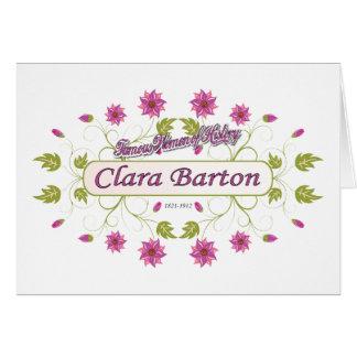 ~ Clara Barton/mujeres famosas de Barton de los Tarjeta Pequeña