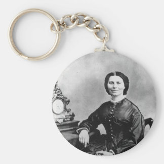 Clara Barton Portrait ~ Vintage 1866 Photo Keychain