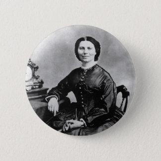 Clara Barton Portrait ~ Vintage 1866 Photo Pinback Button