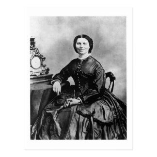 Clara Barton Portrait ~ Vintage 1866 Photo Postcard