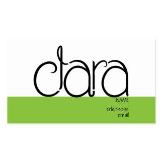Clara black Profile Card Business Card