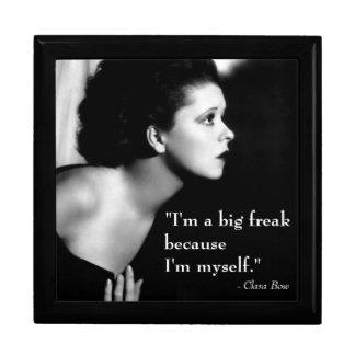 Clara Bow 1920s Film Star Inspiring Quote Keepsake Box
