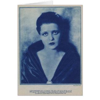 Clara Bow 1927 portrait Card