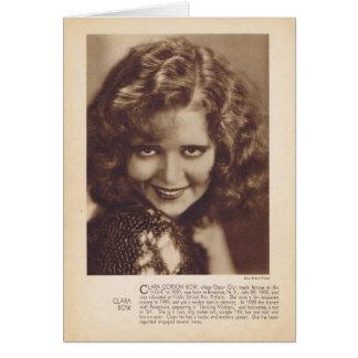 Clara Bow 1931 vintage portrait card
