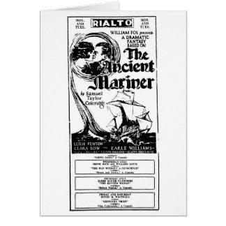 Clara Bow Ancient Mariner 1926 movie ad Card