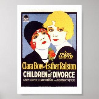 Clara Bow Esther Ralston Children Divorce poster