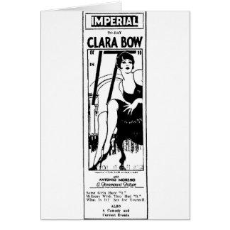 Clara Bow in IT 1927 film advertisement Card