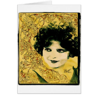 """Clara Bow"" La Art Nouveau Card"