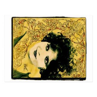 """Clara Bow"" La Art Nouveau Postcard"