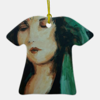 Clara Bow Double-Sided T-Shirt Ceramic Christmas Ornament