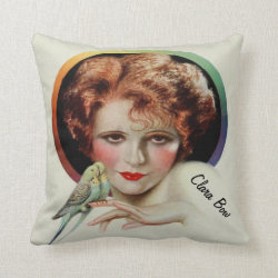 Clara Bow, the Original 1920's Flapper Throw Pillow