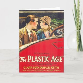 Clara Bow The Plastic Age movie poster card
