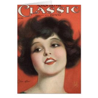 Clara Bow Vintage 1925 Movie Magazine Card