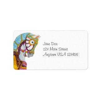 Clara Carousel Horse Avery Label Address Label