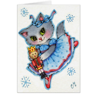 Clara - Cute Nutcracker Christmas Cat Card