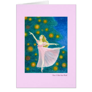 Clara Greeting Cards with Dance Quote