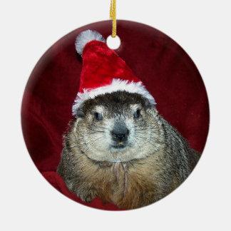 Clara Groundhog Ornament 2