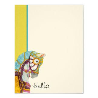 "Clara Hello! Flat Note Cards 4.25"" X 5.5"" Invitation Card"