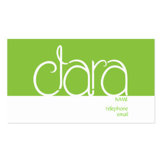 Clara lime Double-Sided standard business cards (Pack of 100)