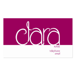 Clara plum Profile Card Double-Sided Standard Business Cards (Pack Of 100)